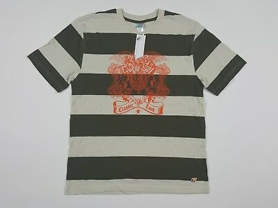 Vintage 90's Lee Pipes Jeans Men's Classic Look Striped T Shirt RARE NOS Size XL