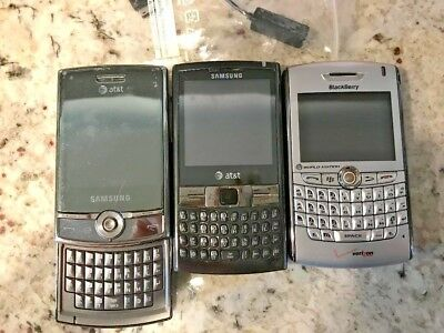 Lot Of 3 Vintage Cell Phones