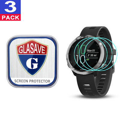(3Pack) GLASAVE Garmin Forerunner 645/ 645 music Tempered Glass Screen Protector