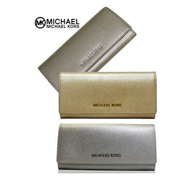 6b7392f49a65 NWT Michael Kors Jet Set Travel Carryall Saffiano Leather Wallet 35H6MYAE7M