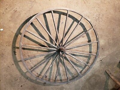 Antique Wooden Spoke Buggy Wagon Wheel Rustic Wood Cart