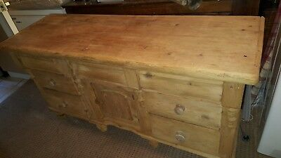 Antique Stripped Pine Dog Kennel Sideboard 1880