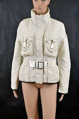 Peuterey Goose Down Beige Auth. Jacket Coat IT42 Uk10 Sentinell New S Belted FAB
