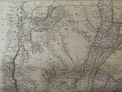 1884 Chile & Argentina Large Coloured Antique Map By W.g. Blackie