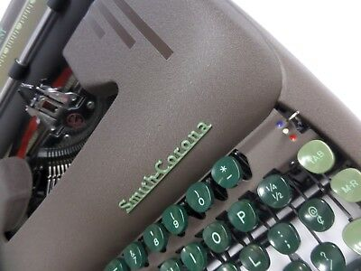 Refurbished Smith Corona Silent Portable Typewriter & Tweed Case  Excellent Cond