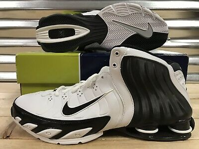 d8257de79b3 Nike Shox Flight Lethal TB 2005 Shoes VC Vince White Black SZ 11.5 (311739-