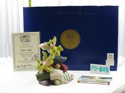 Pocket Dragons by Real Musgrave - PD828 - NIB - COA - Signed - Pillow Fight