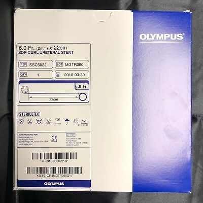 Olympus SSC6022 Sof-Curl Ureteral Set, 6.0Fr (2mm) x 22cm, Oem & Nuovo