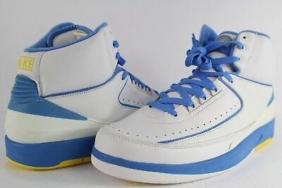 9a54959b400 Nike Air Jordan Retro II 2 Melo White University Blue Varsity Maize Carmelo