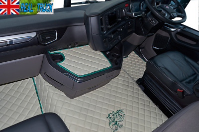 Scania R New Generation [ 2017 + ] Eco Leather Floor  - Beige [Green Griffin