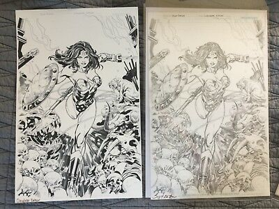 Rare Wonder Woman Original Comic Art Pages Pencils Inks Scott Claudette Eaton