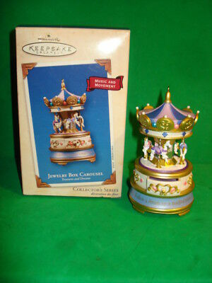 Hallmark Jewelry Box Carousel 2003 Ornament