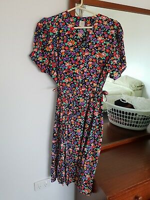 French Vintage Dress Size 12-14Fabric made in France