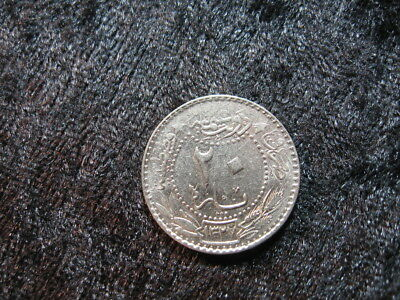"1 old world coin TURKEY OTTOMAN EMPIRE 20 para 1913 KM761 ""Tughra"""