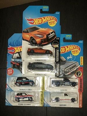 2018 Hot Wheels JDM Lot of 6 Brand New Free Shipping