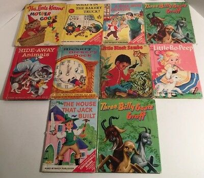 Vintage 1942-1966 Rand McNally & Whitman Children's Books-Lot of 10-Collectibles