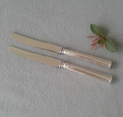 Pair of Antique French CHRISTOFLE Sterling & Steel Old French Blade Table Knives