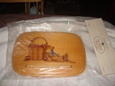 Longaberger Lid For Longaberger Recipe Box Bear And Basket New In Package