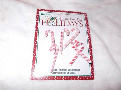 NEW Darice Mini Miniature Christmas Ornaments Glitter Candy Canes 2 inch 6 Piece