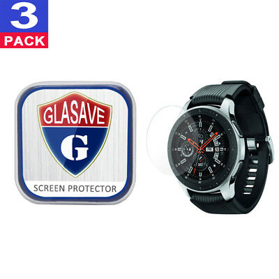 (3Pack) GLASAVE Samsung Galaxy Watch 46mm Tempered Glass Screen Protector Clear