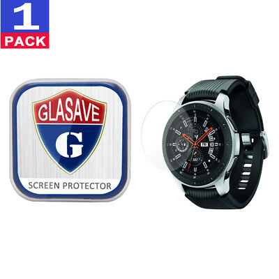 (1Pack) GLASAVE Samsung Galaxy Watch 46mm Tempered Glass Screen Protector Clear