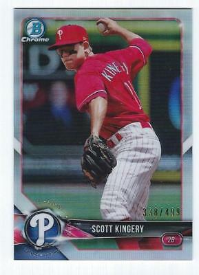 2018 Bowman Chrome REFRACTOR parallel variation - YOU PICK FROM LIST - RC #/499