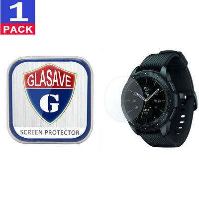 (1Pack) GLASAVE Samsung Galaxy Watch 42mm Tempered Glass Screen Protector Clear