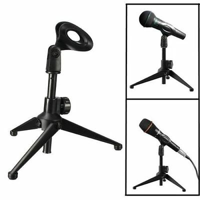 Adjustable Desktop Table Mic Microphone Clamp Clip Holder Stand Tripod US Ship