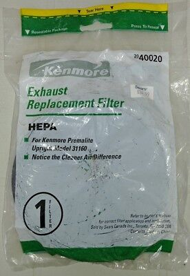 Sears KENMORE Exhaust Replacement HEPA Filter- Premalite Upright model 31160