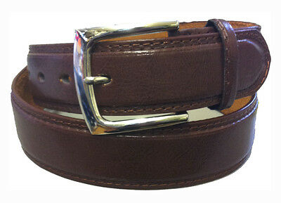 Men's Fashion And Dress Belt Brown  Leather Lining Inside