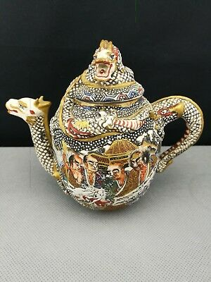 Fine Quality 19th Old ANTIQUE JAPANESE Satsuma teapot- marked - Meiji Period