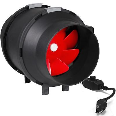 Yield Lab 6 Inch 390CFM Pro Duct/Inline Hush Fan Variable Motor Speed Controller