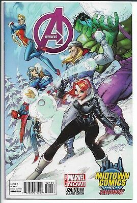 Avengers # 24 Variant J Scott Campbell Nyc Exclusive Nm Ms Marvel Not 1 2 3 4
