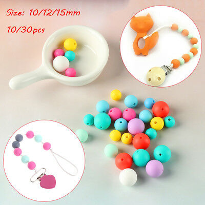 Bracelet Food Grade Chew Beads BPA-Free Silicone Mom DIY Necklace Baby Teether