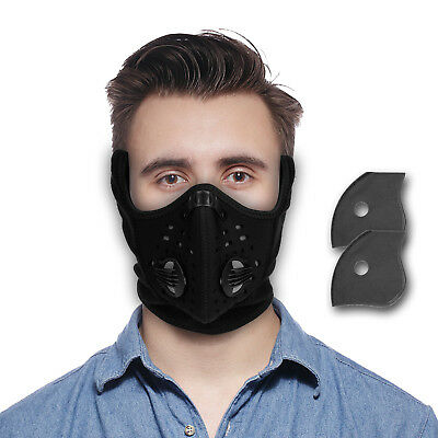 Winter Anti-dust Half Face Mask Filter For Outdoor Sports Ski Cycling Motocycle
