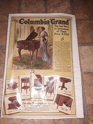 clombia Phonograph Co Columbia Grand Print Ad 1913