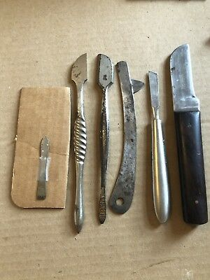 Antique Surgical Medical Cutting Knife Lancets Bone Chisels Autopsy Knife
