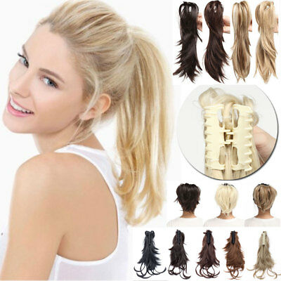 Braids Ponytail Clip in Hair Piece Natural Claw Pony tail Clip on Extensions USA
