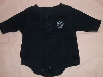 """Boys Baby Connection navy top size preemie--GUC--L/S, """"bulldogs"""", dog face, snap"""