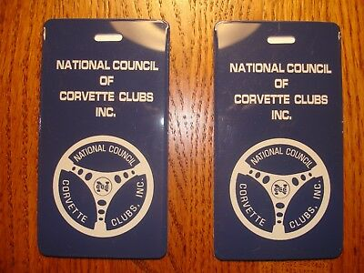 Corvette - National Council of Corvette Clubs NCCC Luggage Tags