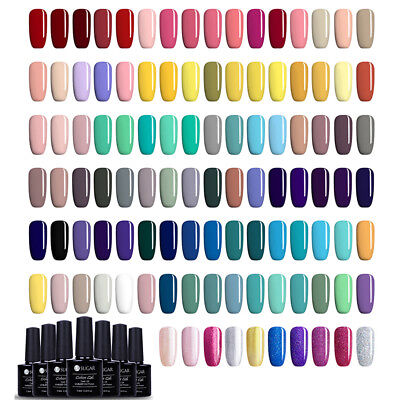16Pcs/Set UR SUGAR 7.5ml UV Gel Nail Polish Pure Color Glitter Soak Off Manicure