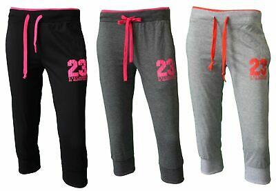 NEW Women's Ladies 3/4 Soft Gym Sports Track Pants Shorts Trackies - 23 L'AMOUR
