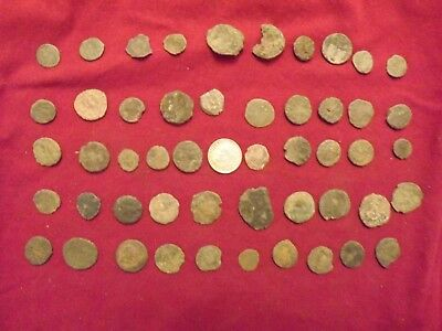 LOT OF 50 ANCIENT BRONZE ROMAN COINS Uncleaned Mid-Low Grade WWII North Africa 5
