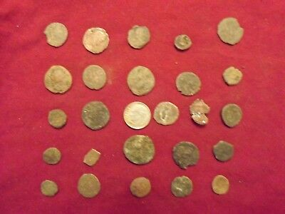 LOT OF 25 ANCIENT BRONZE ROMAN COINS Uncleaned Mid-Low Grade WWII North Africa 7