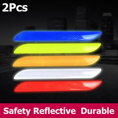Reflector  Decal Rear Bumper Car Reflective Strip Warning Stickers Tail Safety
