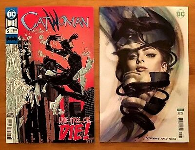 CatWoman 5 2018 Main + B Cover Variant Stanley Artgerm Lau Cover DC NM+