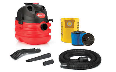 NEW! Shop-Vac 5 Gallon 6.0 Peak HP Portable Wet/Dry Vac w/ Filter & Accessories