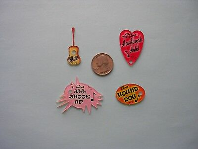 Elvis Pinball Promo Plastics 4 Key Chains MINT