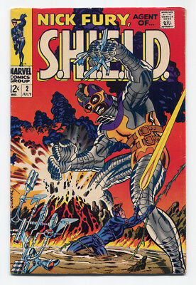 Nick Fury, Agent of SHIELD #2 (1968, Marvel) FN/VF 7.0, Heads Up! ~ QWANNG!!!