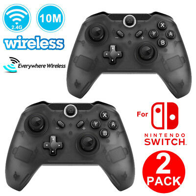 2Pack Wireless Pro Controller Gamepad for Nintendo Switch Smash Bros Star Allies